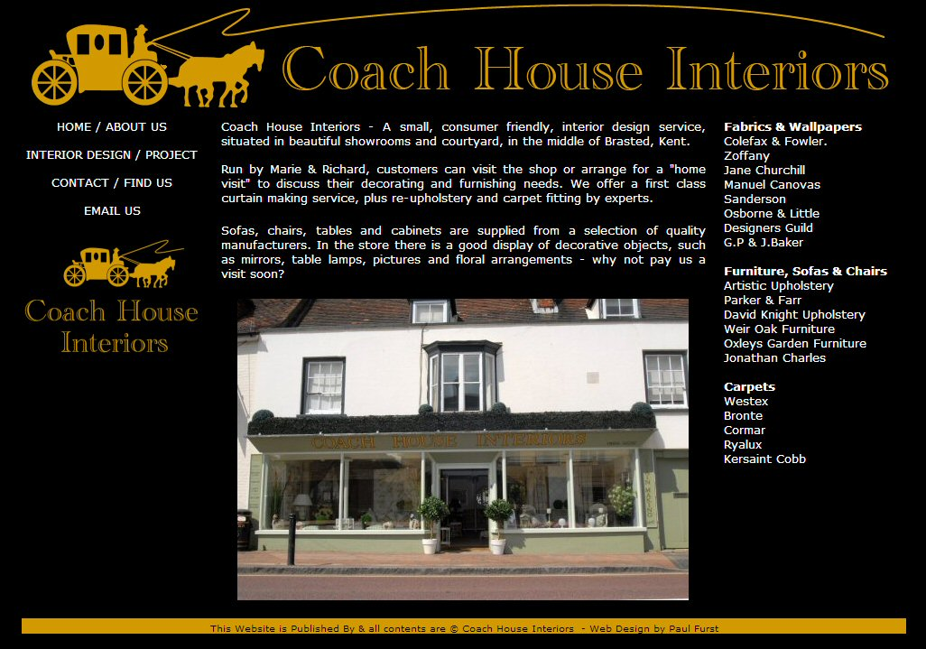 Coach House Interiors Maidstone Web Design Web Design Seo Social Media Solutions Hosting